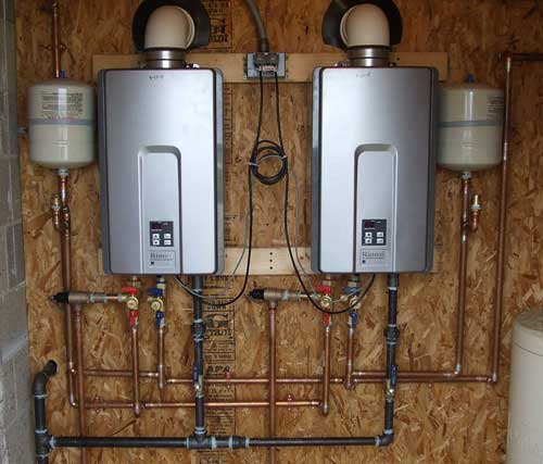 tankless water heater & recirculating pump install or repair