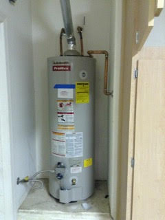 Water Heater in a closet
